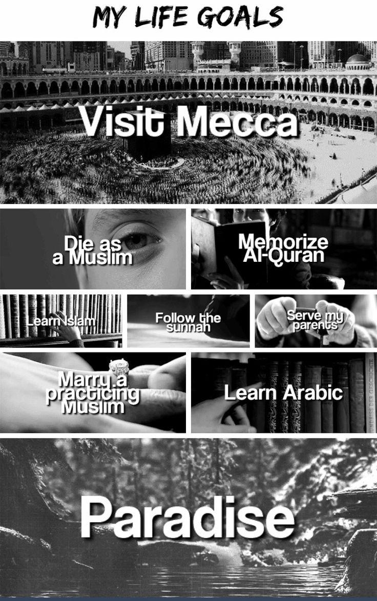 My goals as a Muslimah InshaAllah