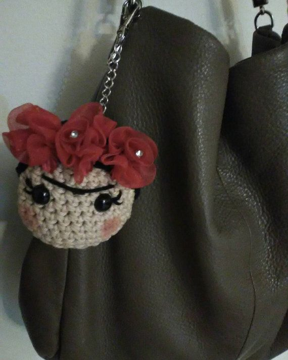 Crochet Frida Kahlo amigurumi inspired by SkyEscreationsShop