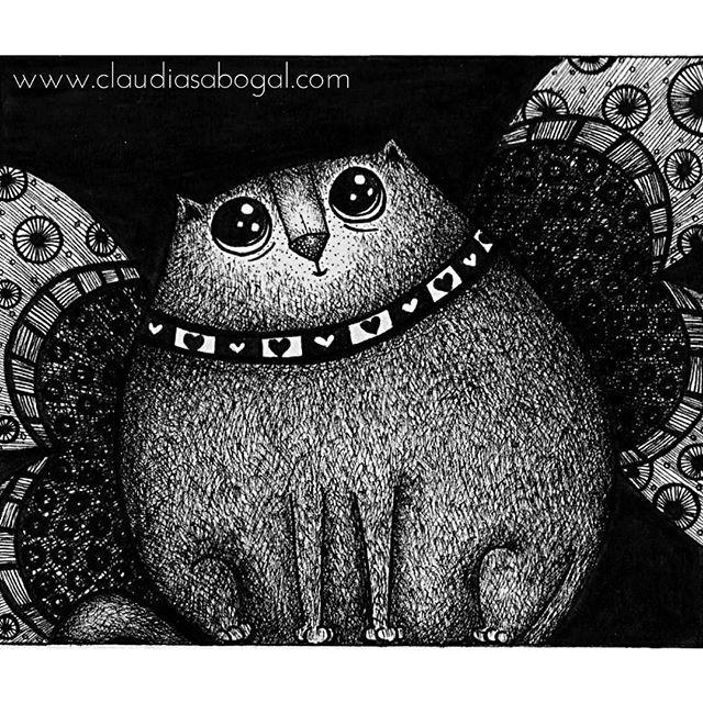 My precious ❤ . . . #illustration #gatos #drawing #inkonpaper #catsofinstagram #graphic #mininos #cats #catslover #sketchbook #doodles #artist #instaart #handdraw #love #amordegatos #modernart #pendrawing #instartist #instaartworks #comic #artoftheday #instaillustration #artcollector #bogotart #artofinstagram #Instagram #bnw #creative #inkdrawing