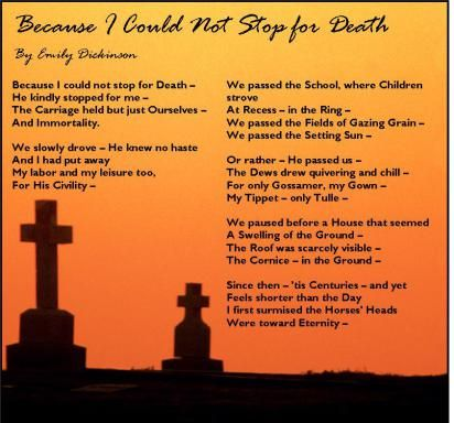"""""""Because I Could Not Stop for Death"""" by Emily Dickinson"""
