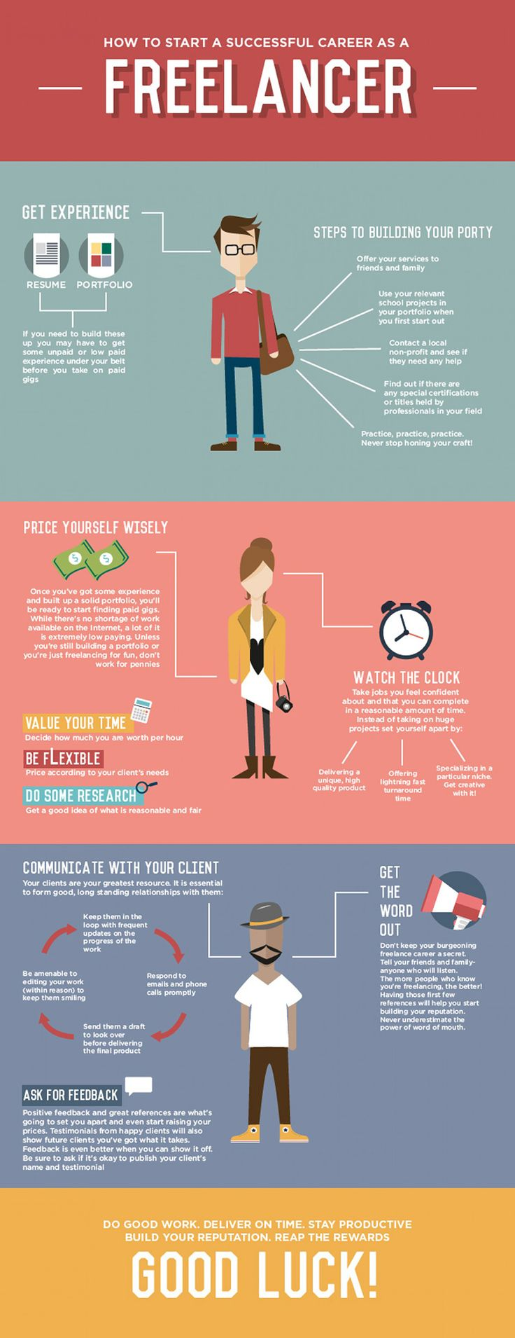 How to Start a Successful Career As a Freelancer #infographic #Freelancing #Career