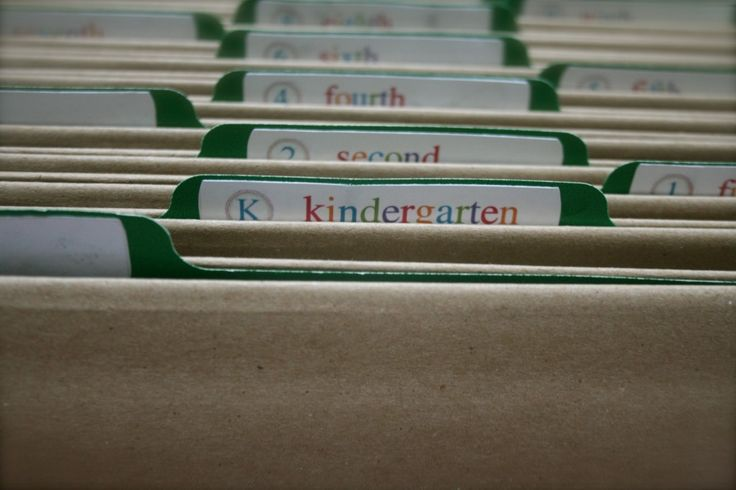 organizing and storing kid's artwork/schoolwork