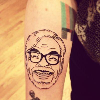 The man himself!: Miyazaki Tattoo, Not Them Miyazaki, Deluxe Tattoo, True Blue, Portraits Tattoo, Tattoo Ink, Studios Ghibli, Residue Income, Blue Tattoo