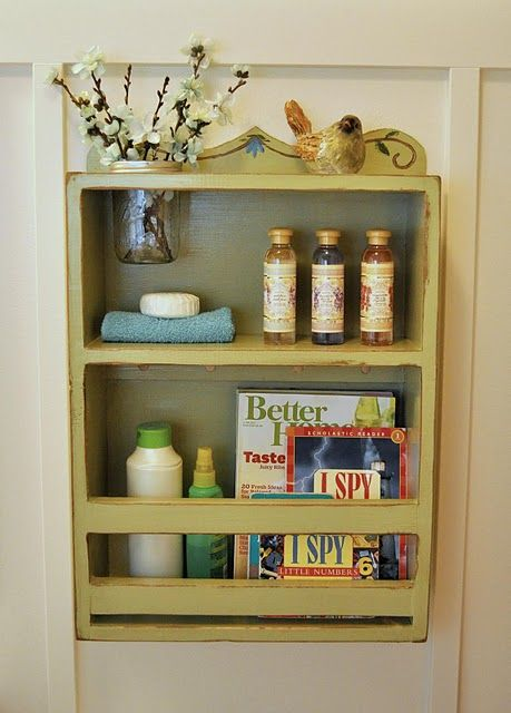 Diy bathroom shelf home pinterest mason jar shelf for Diy bathroom storage shelves