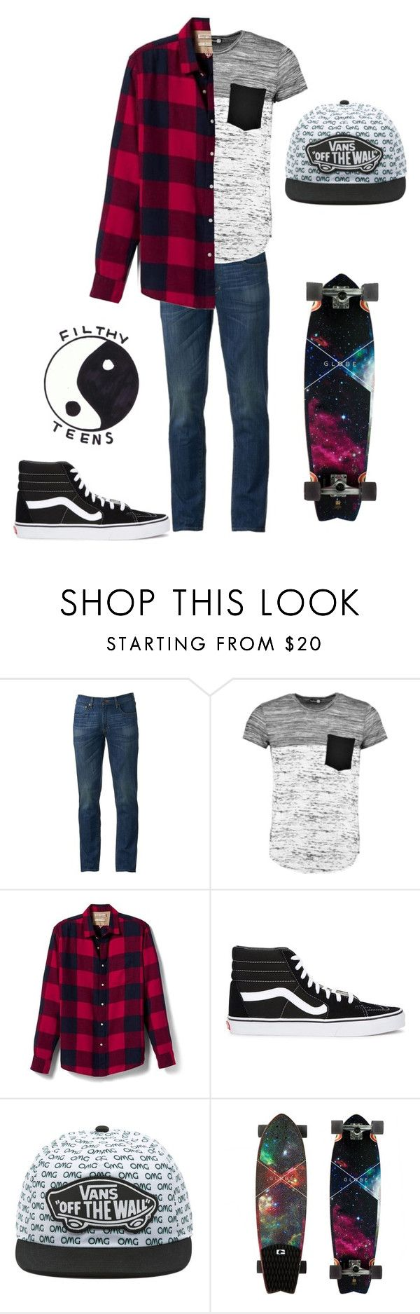"""""""Androgynous Pizza Date"""" by rock-save-the-queen on Polyvore featuring Urban Pipeline, Boohoo, Banana Republic, Vans, teens, angst, androgyny and pizzadate"""