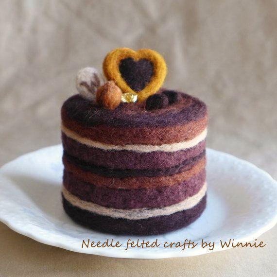 Mocha chocolate hazelnut torte handmade cake OOAK | Chocolate Hazelnut ...