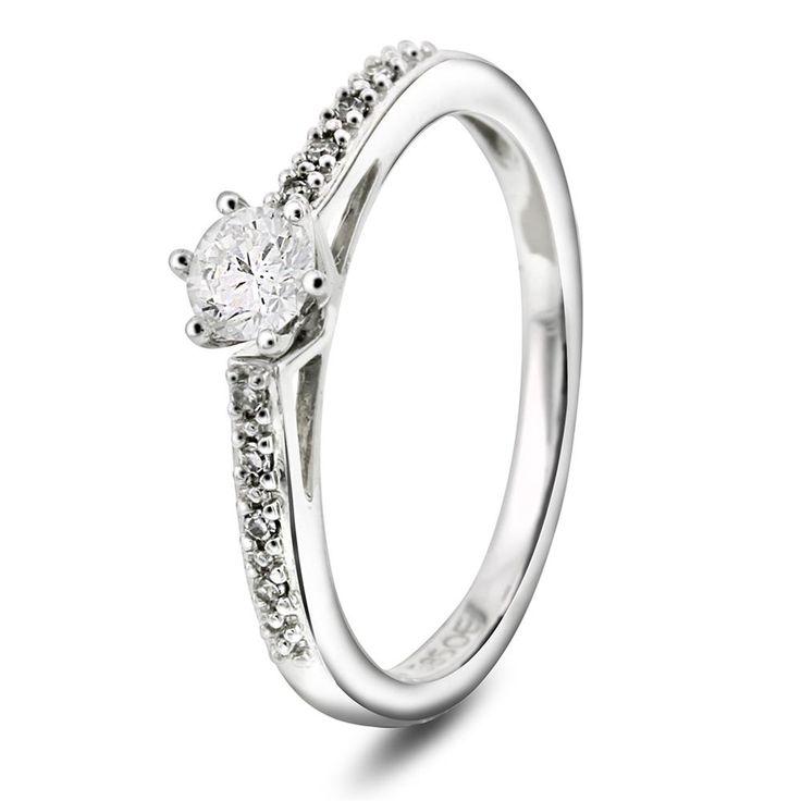 Ring i gull med diamant 0,29ct WSI - Juvelen gullsmed