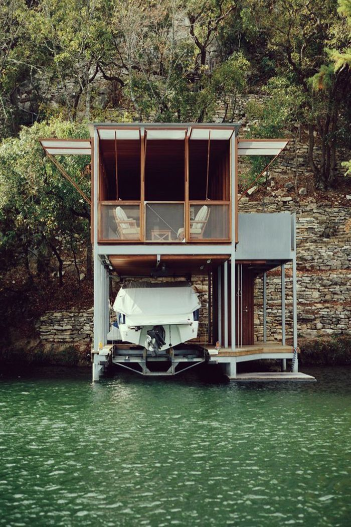 Best House Boat Living Images On Pinterest Architecture Boat - Awesome floating house shore vista boat dock by bercy chen studio