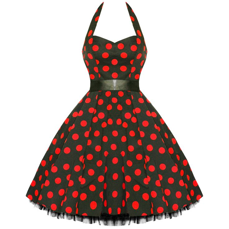 Hearts and Roses London Polka Dot 50s Rockabilly Pinup Party Swing Prom Dress | eBay