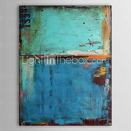 [XmasSale]colore blu dipinti a olio vintage con numeri tele dipinte a mano pronti da appendere | LightInTheBox