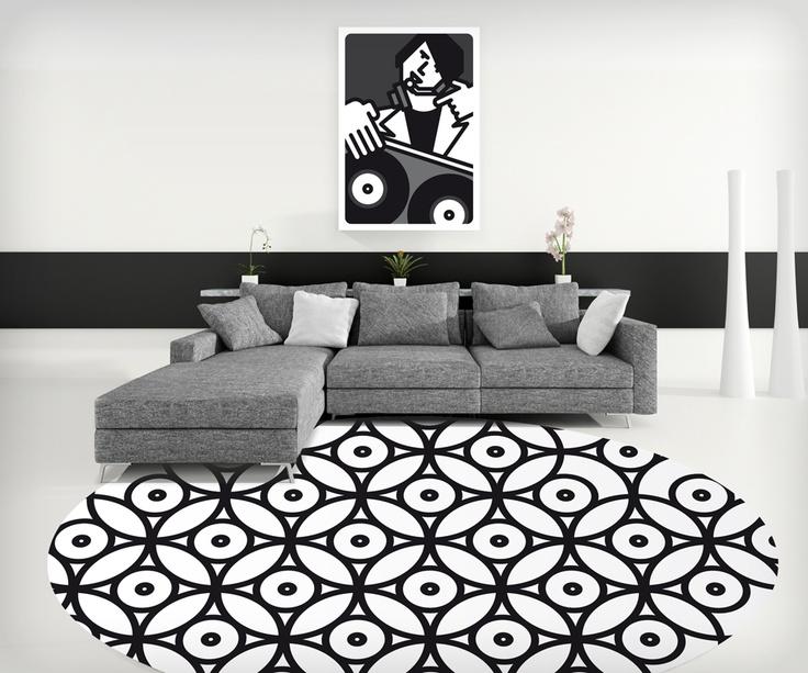 'Intersezioni di dischi in bianco e nero' Computer art Unlimited/2012