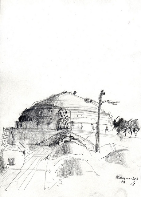 On the roof of the city (5) by Behzad Bagheri Sketches, via Flickr