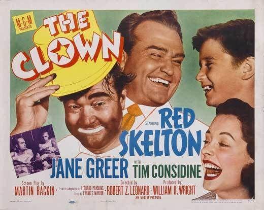 THE CLOWN Movie POSTER 22x28 Half Sheet Red Skelton Jane Greer Tim Considine
