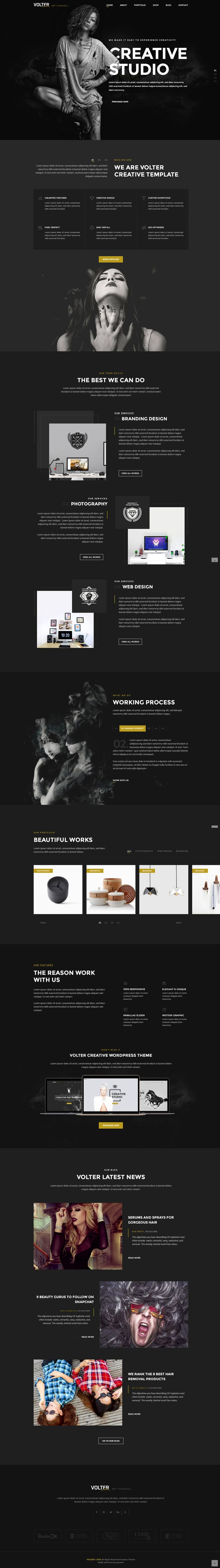 Template Formal Letter%0A Volter Creative Studios Bootstrap Template comes with stunning   home  variation