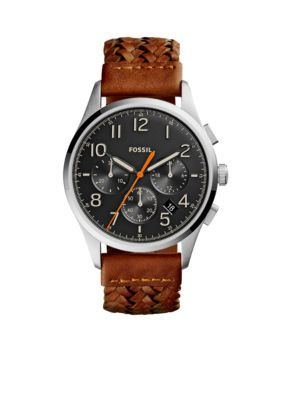 Fossil BlackBrown Vintage 54 Chronograph Brown Leather Watch