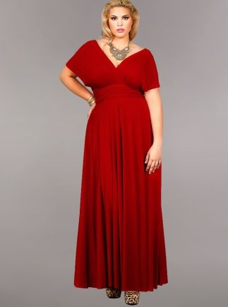 Red long dress plus size quotes
