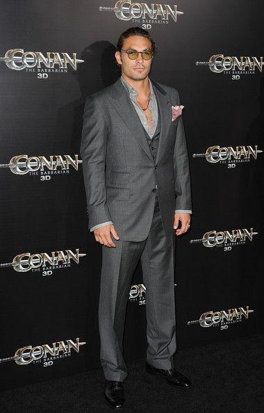 "Jason Momoa Photos Photos - Actor Jason Momoa attends the world premiere of 'Conan The Barbarian' held at Regal Cinemas L.A. Live on August 11, 2011 in Los Angeles, California. - Premiere Of Lionsgate Films' ""Conan The Barbarian"" - Arrivals"