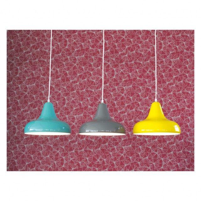 AERIAL Yellow metal ceiling light | Buy now at Habitat UK