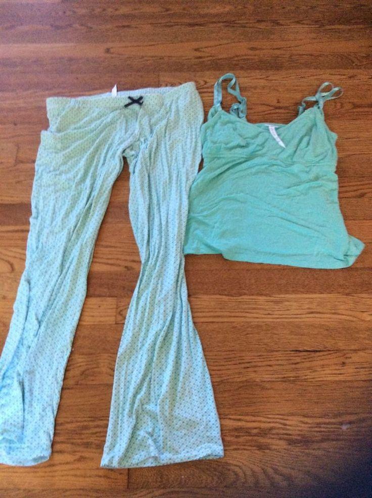 A Pea In The Pod Nursing Pajama Set 2 Piece Medium #APeaInThePod #PajamaSets
