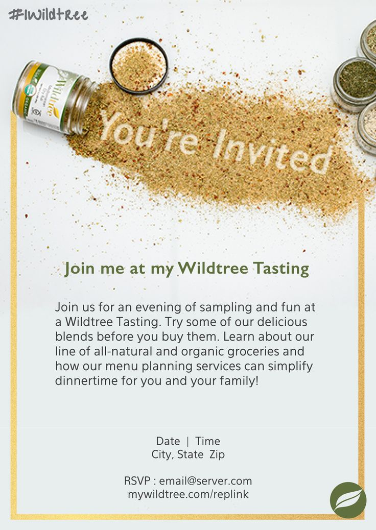 wildtree tasting invitation