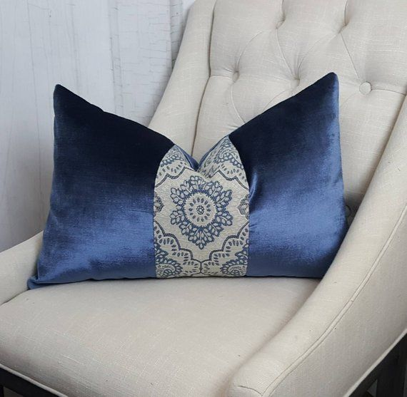 Pleasant Blue Velvet Pillow Cover Euro Pillow Sham Housewares Theyellowbook Wood Chair Design Ideas Theyellowbookinfo