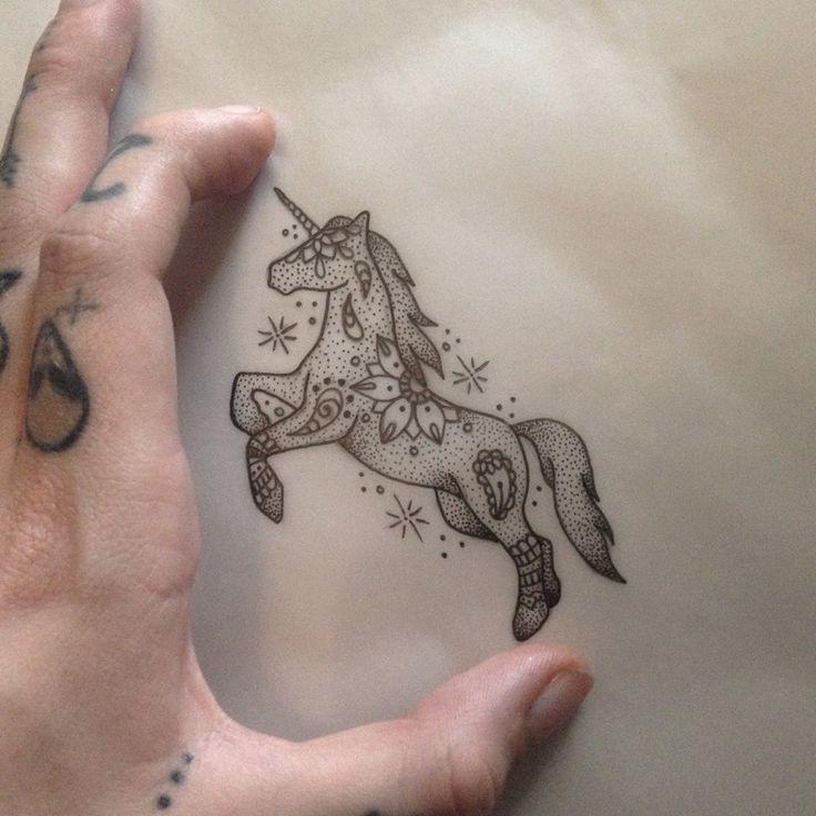 Unicorn Tattoo by Medusa Lou Tattoo Artist - medusaloux@hotmail.com