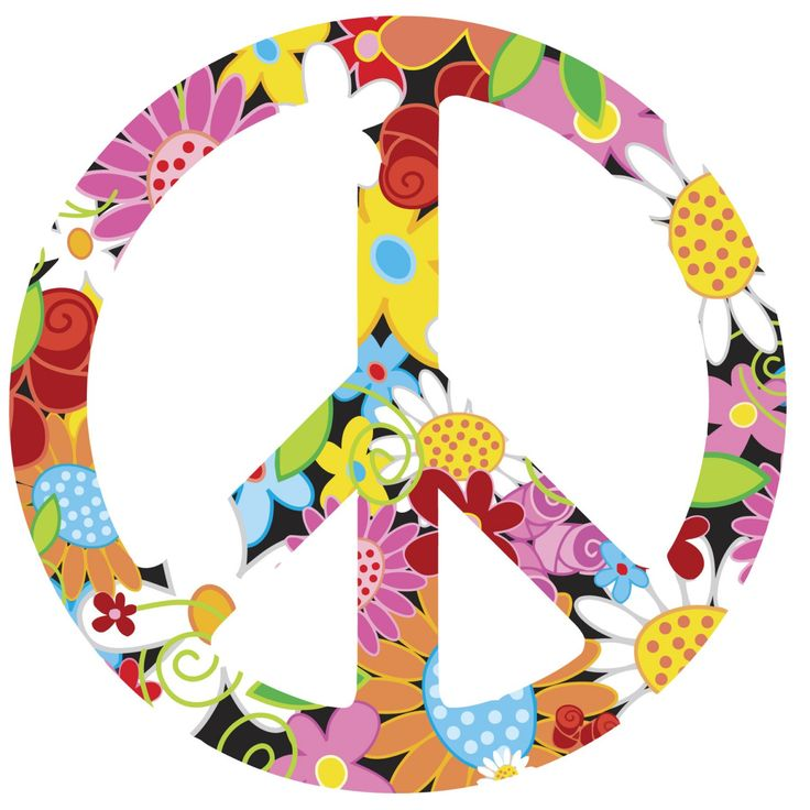 peace signs | FUNKY FLORAL Peace Sign Symbol Vinyl Wall Art by wallartdesign