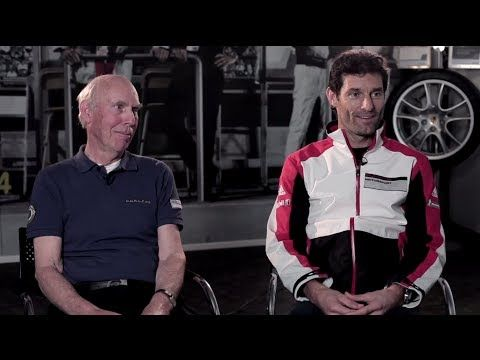 Ahead of the opening race of the FIA WEC season and Porsche's return to the LMP1 class, works driver Mark Webber joins 1970 Le Mans winner Richard Attwood at the Porsche Experience Centre, Silverstone to compare cars, preparation and fitness. #Mission2014