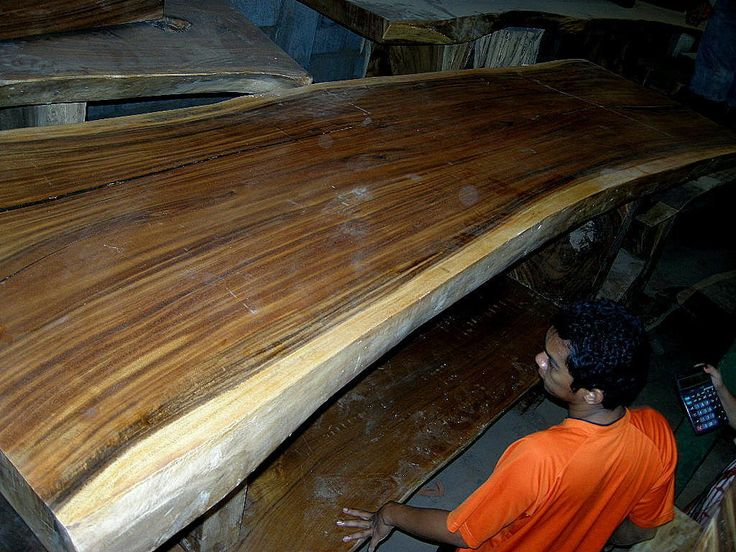 Thick wood slabs made from real hardwood for sale.
