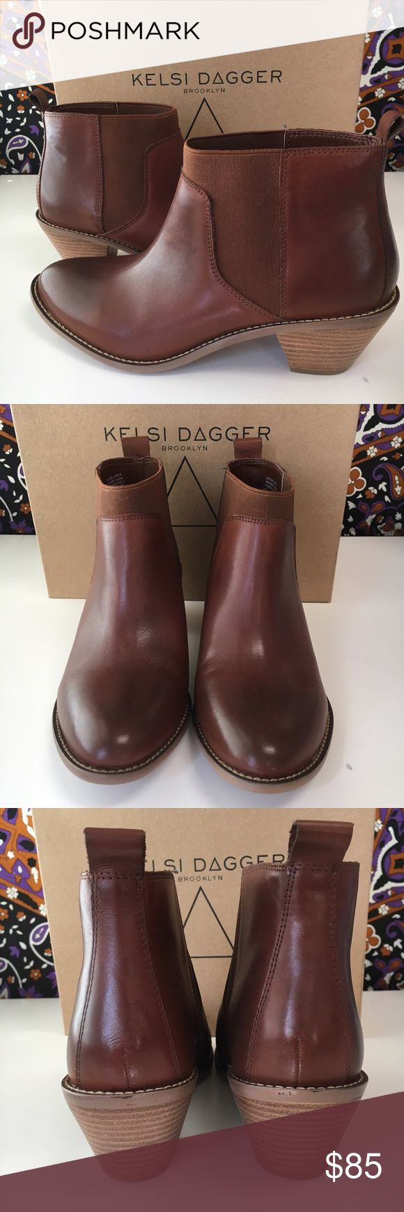 "Kelsi Dagger Brooklyn Kadi Ankle Boot Kelsi Dagger Brooklyn Kadi Ankle Boot. Nubuck leather upper in beautiful toffee color. Slip-on, lightly padded footbed with 2"" heel. Runs slightly small and will best fit a size 8.5-9. Brand new and never worn! Kelsi Dagger Shoes Ankle Boots & Booties"