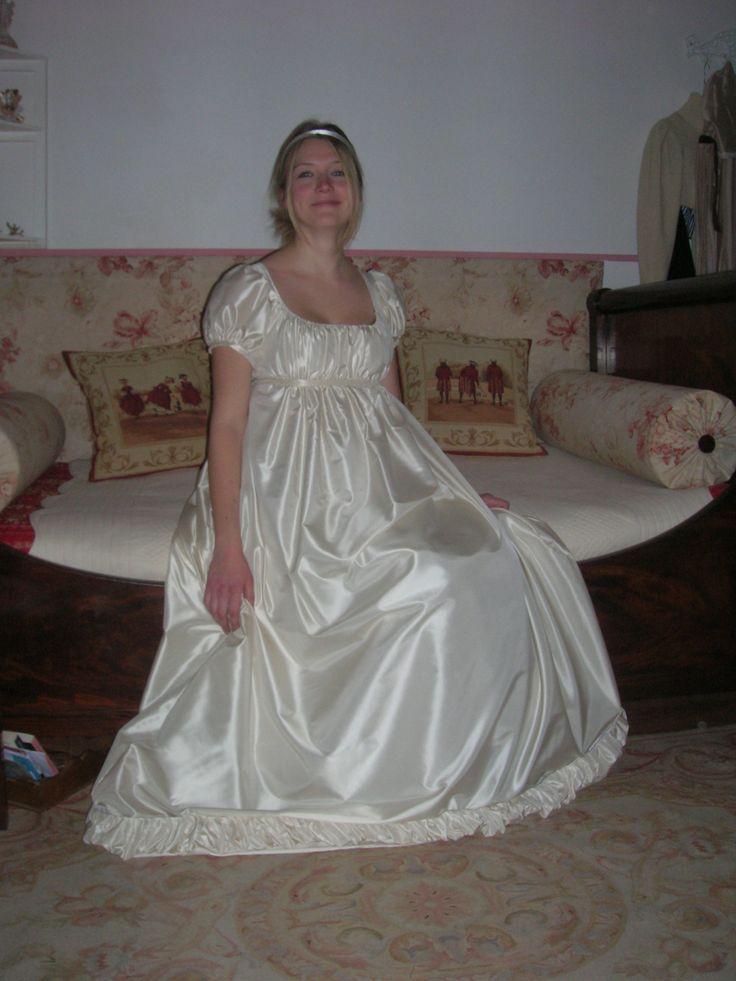 replica abito da ballo in taffetà di seta 1812