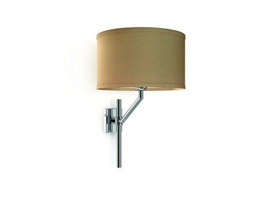 Lampada da parete in ottone cromato e paralume in tessuto | Wall lamp,  chromed brass with fabric lamp shade.    art.1400.01    #Luxury #Lamp #interiorDesign #Design #Light #Madeinitaly