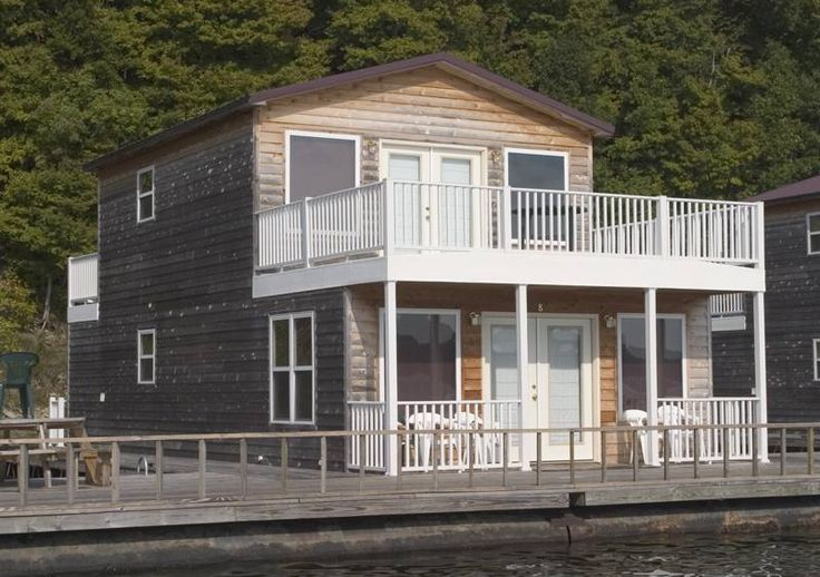 2-story floating home designs   Floating Cabin Vacations - Green River Marina - Green River Lake