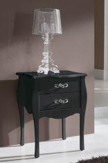 Tables de Chevet de Style Classique : Modèle ROSA Noir