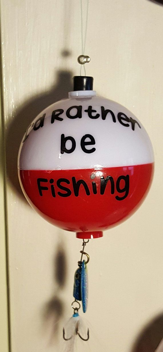Personalized Large Fishing Bobber I'd Rather by MidnightMoonSias
