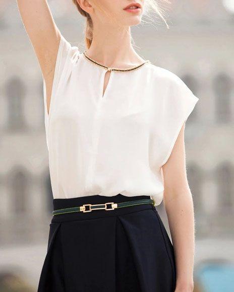 Short Sleeve Chiffon Loose White Top 10.99