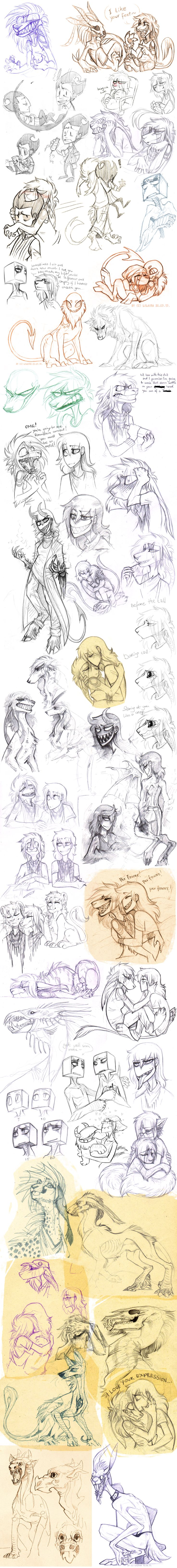 Sketch dump 48 by LiLaiRa on DeviantArt