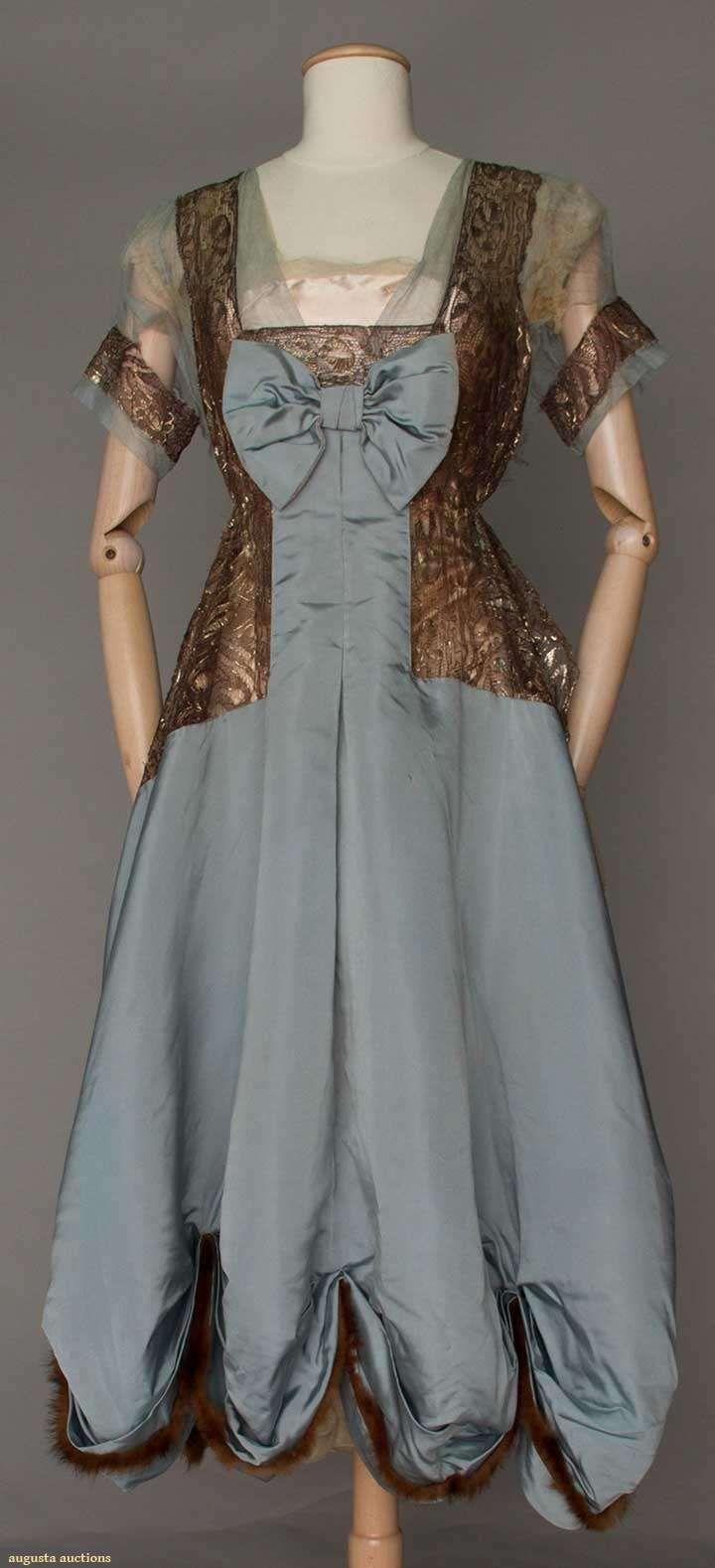 Gown (image 1) | House of Worth | France; Paris | 1916 | silk, fur | Augusta Auctions | April 20, 2016/Lot 211