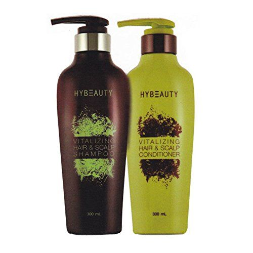 Hybeauty Vitalizing Hair and Scalp Conditioner and Shampoo pure herbal concentrates from Korea, 300 ml. (2 bottles). * More info could be found at the image url.