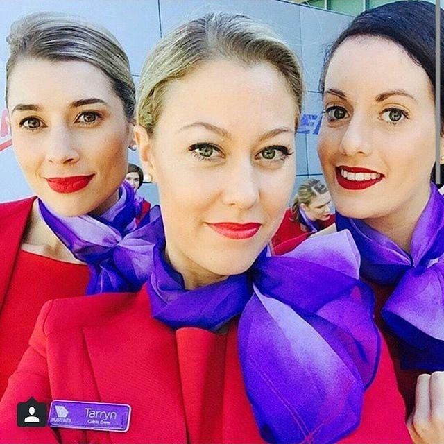 crewLIFEcrewSTYLE Hi from our friends at @virginaustralia ✈Airline - Virgin Australia Credit - olivia_muller