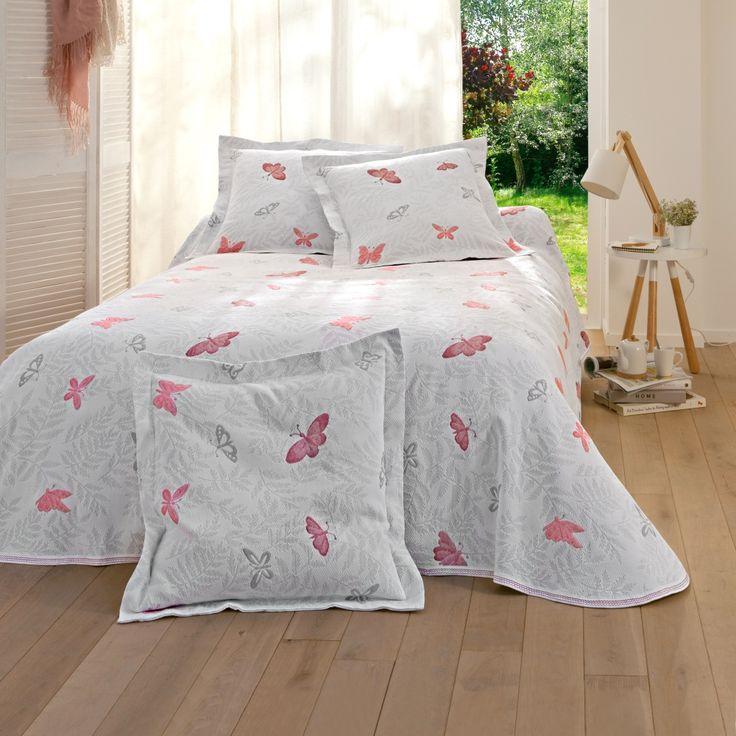 jet de lit papillon maison deco int rieur blancheporte linge de maison pinterest. Black Bedroom Furniture Sets. Home Design Ideas