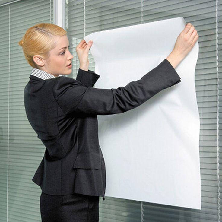 2017 Tableau Magnétique Blanc Papier Tableau Blanc Marqueur Envoyer Stylo Effaçable Électrostatique Adsorption Doux Stickers Muraux Colle Pour Graffiti