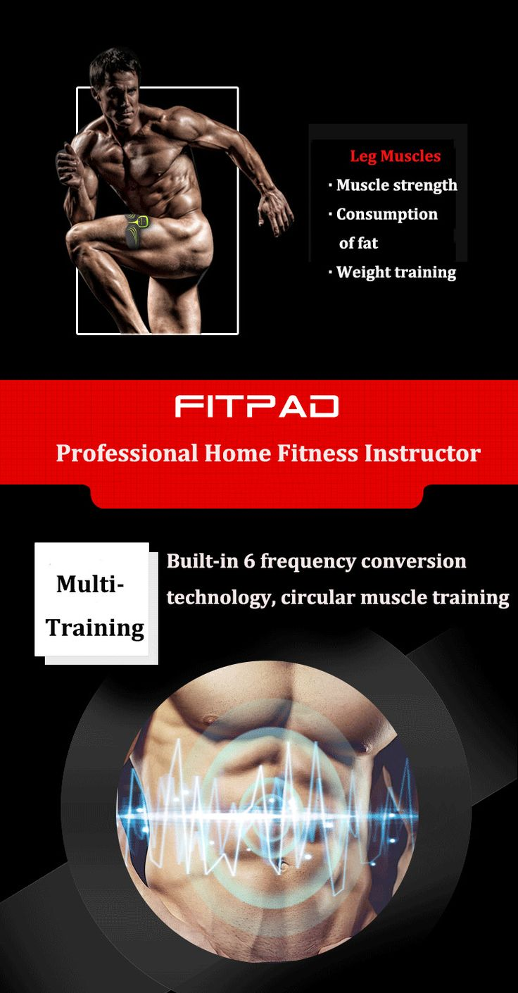 Fitpad Smart Electronic ABS Abdominal Muscle Building Equipment Body Shaper Fitness Gel Tape Belt
