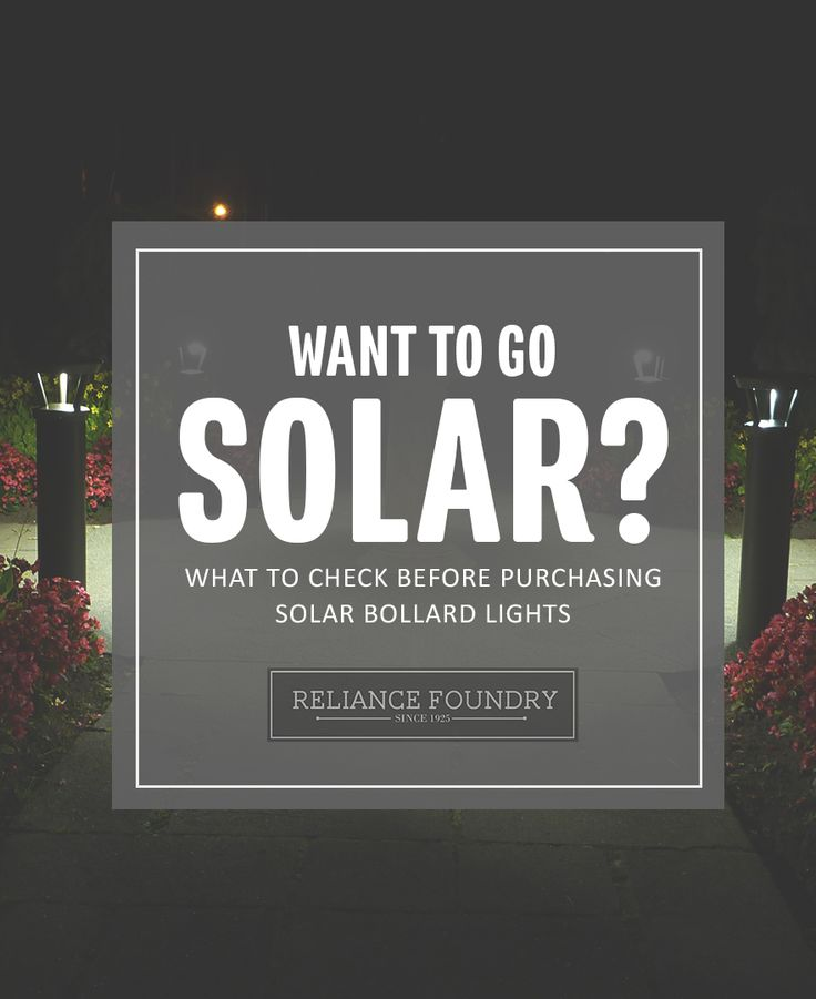 Solar is a great, sustainable energy source. But before installing solar powered lighting bollards, there are a few things you should consider. Check our blog to find out!