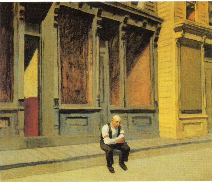 """Sunday, Edward Hopper, oil on canvas, 29"""" x 34"""", 1926"""