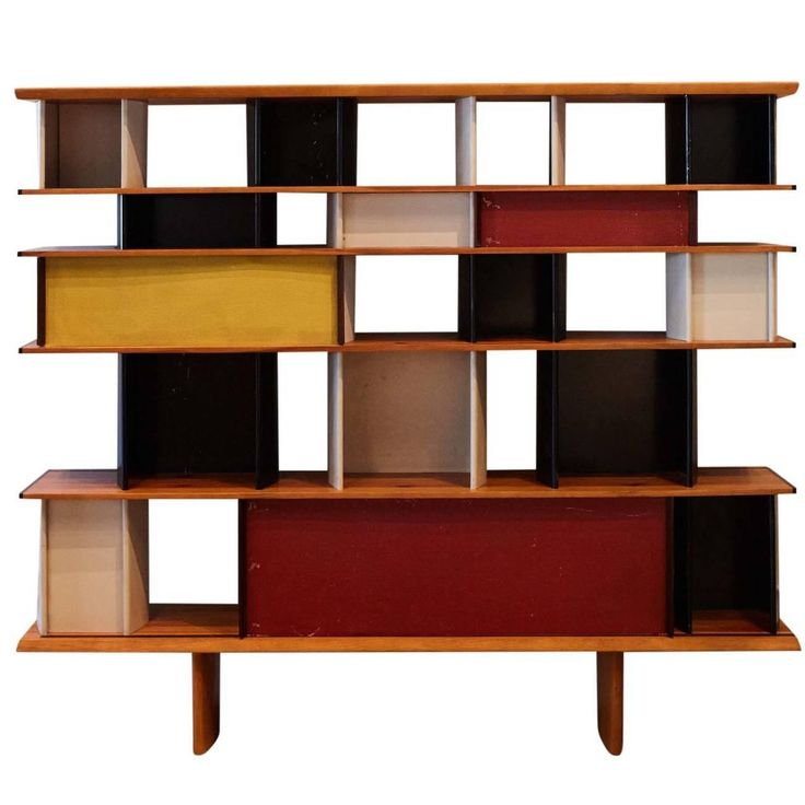 Charlotte Perriand & Jean Prouve Mexique Bibliothèque, France, circa 1952 | See more antique and modern Bookcases at https://www.1stdibs.com/furniture/storage-case-pieces/bookcases