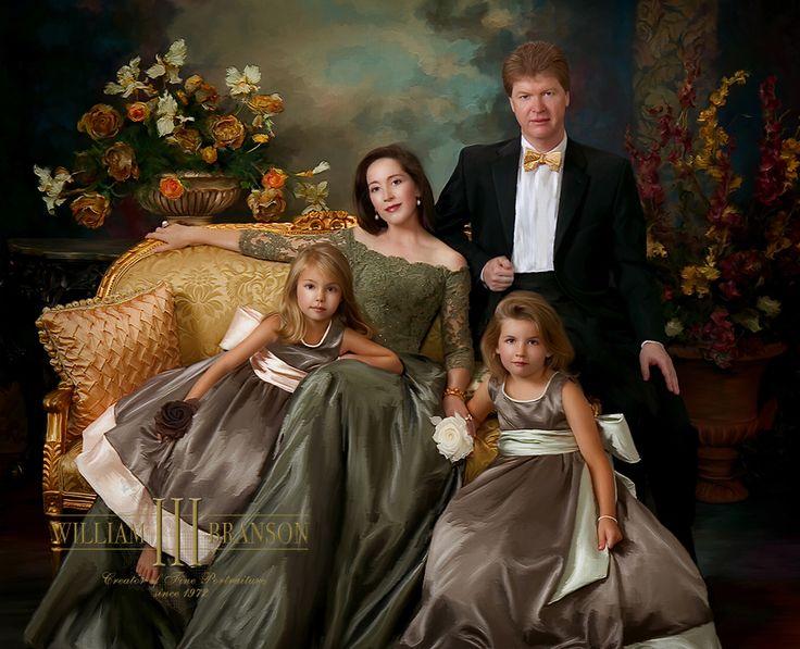 Elegant family portrait of William Branson III.