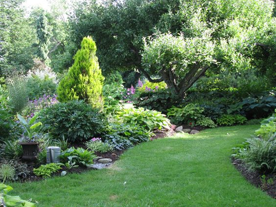 Mixed border landscape design ideas inspiration for Fine gardens landscaping