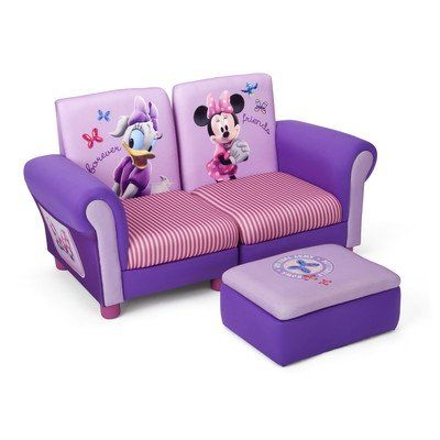 Black Friday Delta Children's  Products Minnie Mouse Upholstered Sectional Set from Delta Children's Products