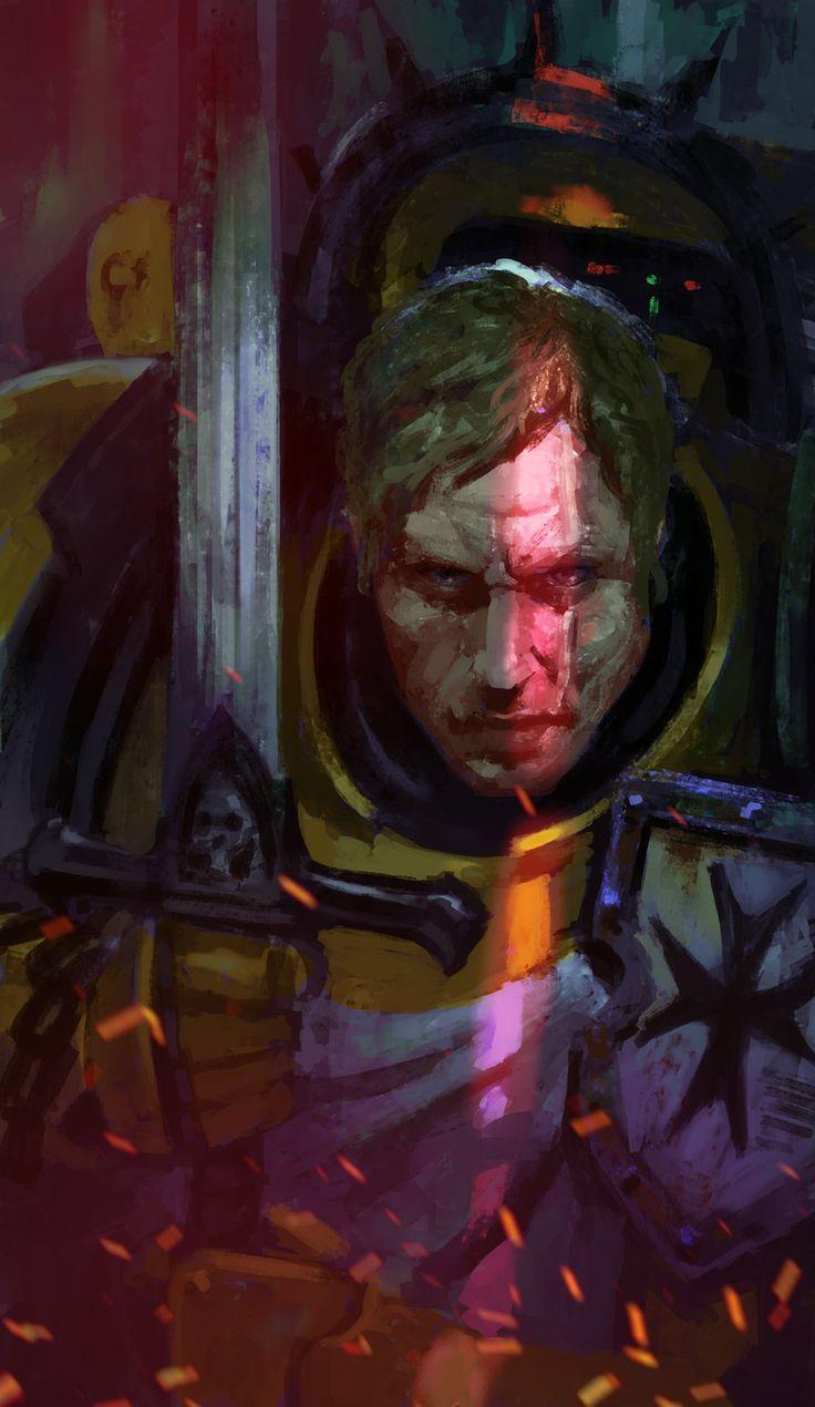 captain diegogisbertllorens horus_heresy imperial_fists imperium portrait sigismund space_marines